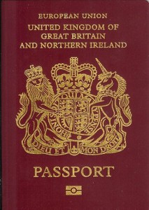 British passport cover