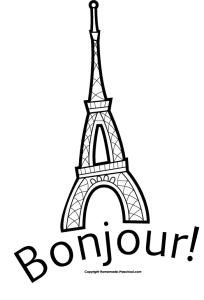 eiffel-tower-bonjour-bw